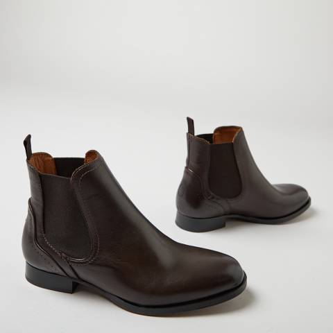 Oliver Sweeney Brown Beja Leather Chelsea Boots