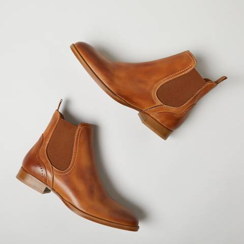 Oliver Sweeney Tan Beja Leather Chelsea Boots