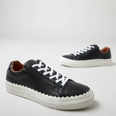 Oliver Sweeney Black Ziva Scallop Sneakers