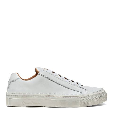 Oliver Sweeney White Ziva Scallop Sneakers