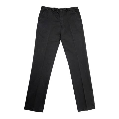 Thomas Pink Charcoal Classic Cotton Linen Chinos