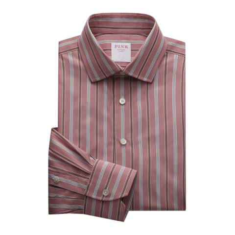 Thomas Pink Pink Argento Stripe Tailored Fit Shirt