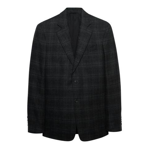 Thomas Pink Charcoal Check Wool Cashmere Jacket
