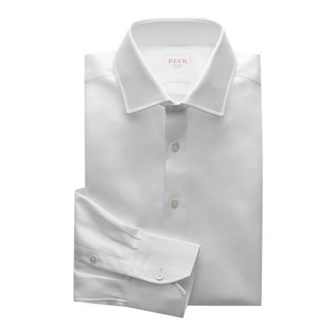 Thomas Pink White Royal Twill Tailored Button Cuff Shirt