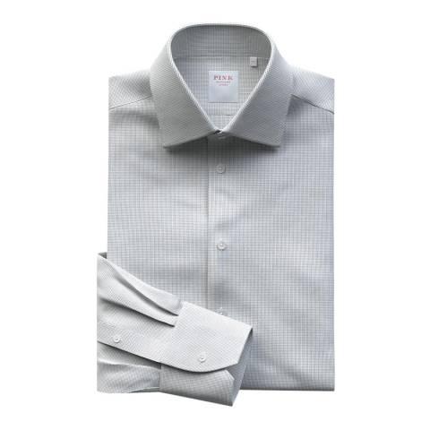 Thomas Pink Navy Graph Check Athletic Fit Shirt