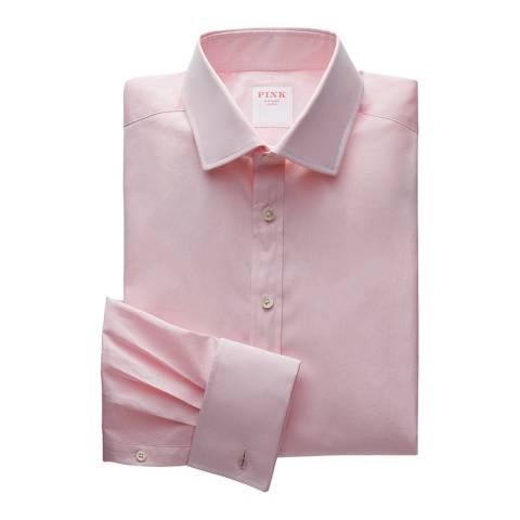 Thomas Pink Pink Core Poplin Tailored Double Cuff Shirt
