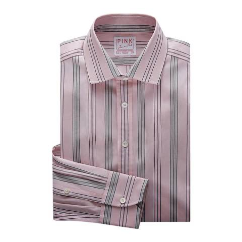 Thomas Pink Pink Piumino Fine Stripe Tailored Fit Shirt