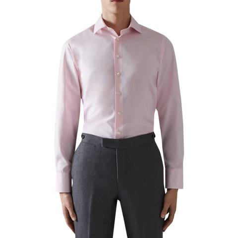 Thomas Pink Pink Core Poplin Tailored Button Cuff Shirt