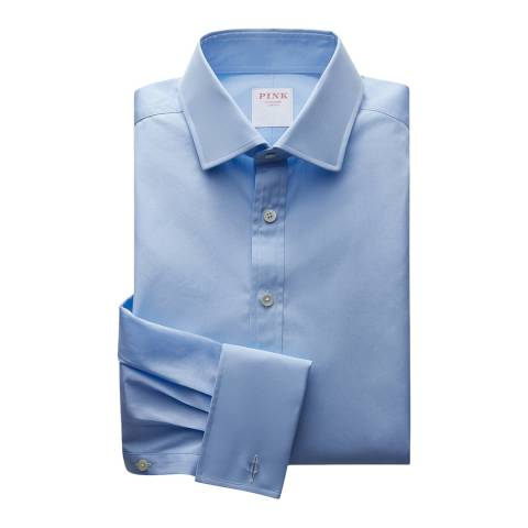 Thomas Pink Blue Core Poplin Slim Fit Shirt