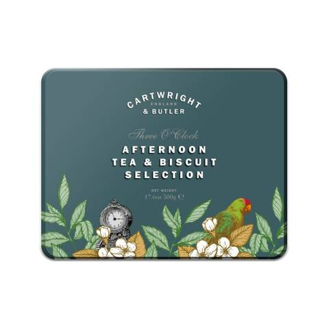 Cartwright & Butler Sweet Buiscuits and Tea Three o'clock Trio Tin