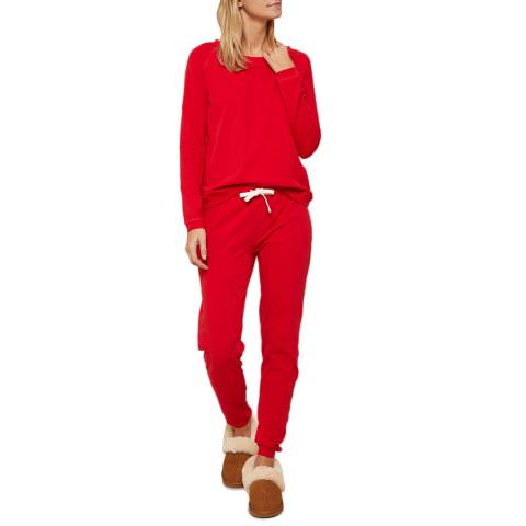 N°· Eleven Red Cotton Jersey Lounge Set