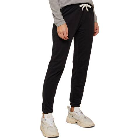 N°· Eleven Black Cotton Jersey Cuffed Pant