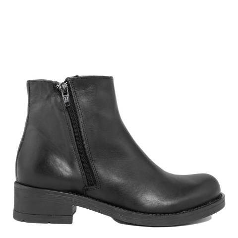 Bluetag Black Sion Leather Ankle Boot