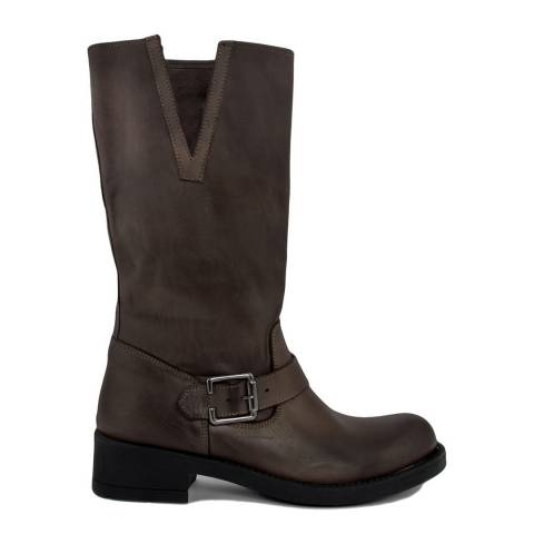 Bluetag Brown Moro Leather Boot