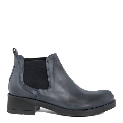 Bluetag Blue Vit Leather Ankle Boot
