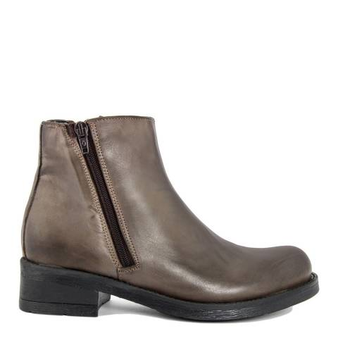 Bluetag Brown Sion Leather Ankle Boot