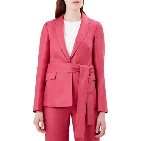 Hobbs London Pink Anthea Linen Jacket