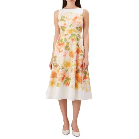 Hobbs London Ivory Floral Dahlia Dress