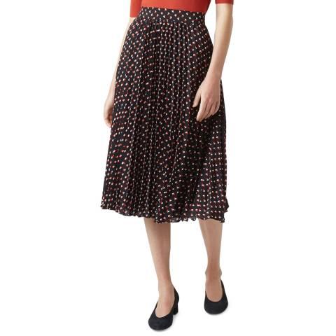 Hobbs London Navy Print Rosalind Skirt