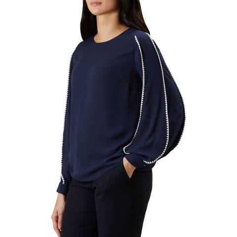 Hobbs London Navy Gina Top