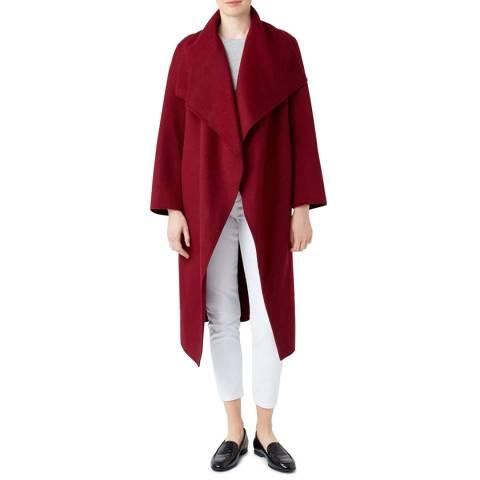 Hobbs London Red Odelia Wool Blend Coat