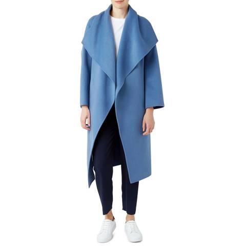 Hobbs London Blue Odelia Wool Blend Coat