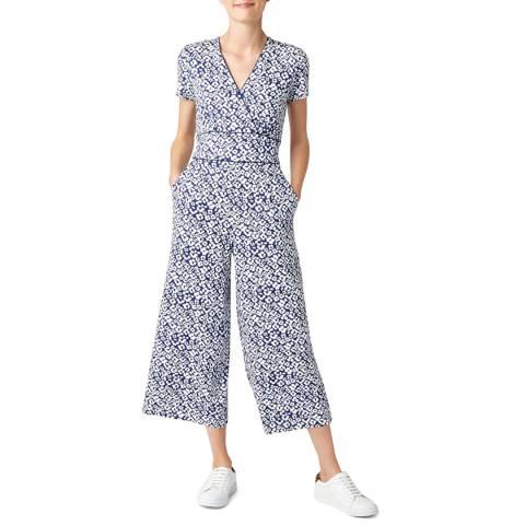 Hobbs London Blue Print Darcie Jumpsuit