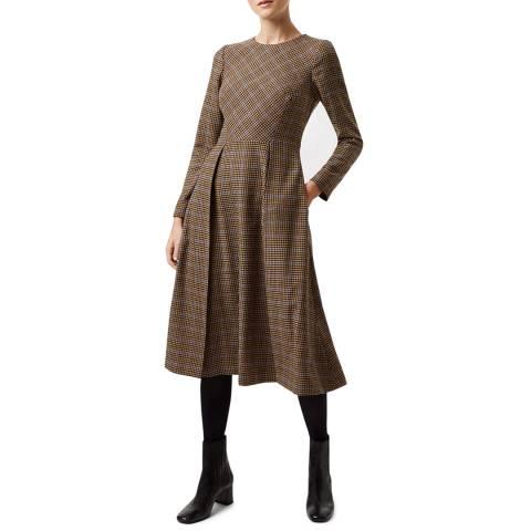Hobbs London Brown Sophia Wool Blend Dress