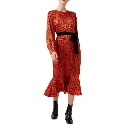 Hobbs London Orange Isla Dress