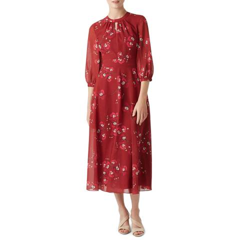 Hobbs London Red Samantha Dress