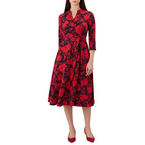 Hobbs London Red Floral Ciara Dress