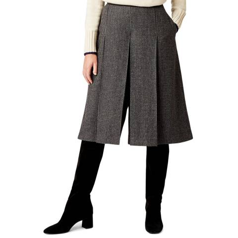 Hobbs London Charcoal Sophia Wool Blend Culotte