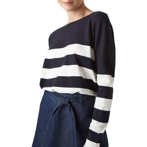 Hobbs London Navy Stripe Phoebe Jumper