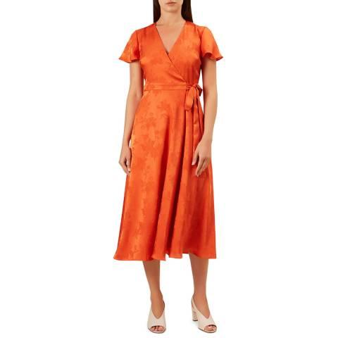 Hobbs London Orange Eleanor Dress