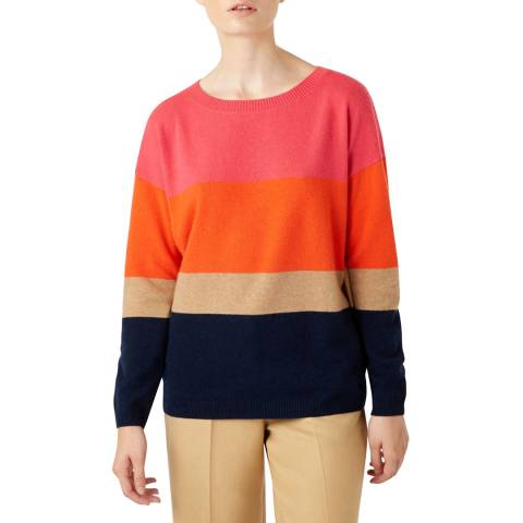 Hobbs London Multi Stripe Sofia Cashmere Blend Jumper