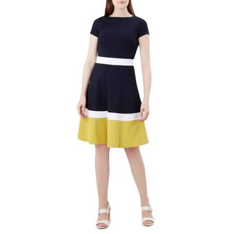 Hobbs London Navy Seasalter Dress