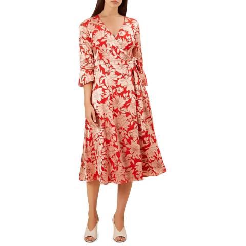 Hobbs London Red Floral Justina Dress