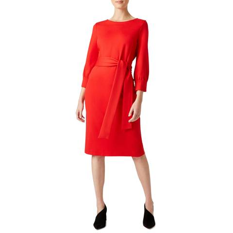 Hobbs London Red Samara Dress