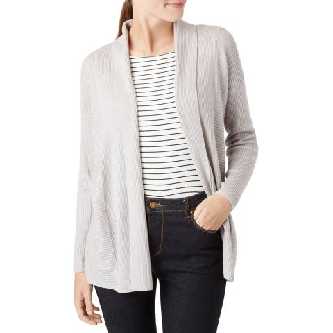 Hobbs London Grey Amy Wool Blend Cardigan