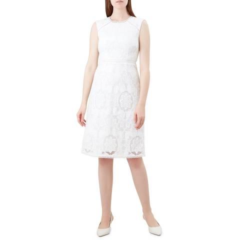 Hobbs London Ivory Skylar Dress