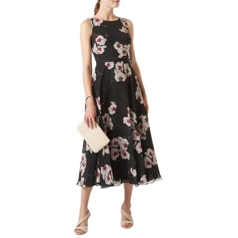 Hobbs London Black Floral Carly Dress