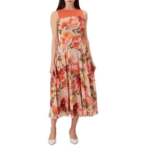 Hobbs London Orange Floral Carly Dress