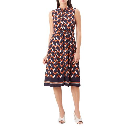 Hobbs London Multi Print Suzanna Dress