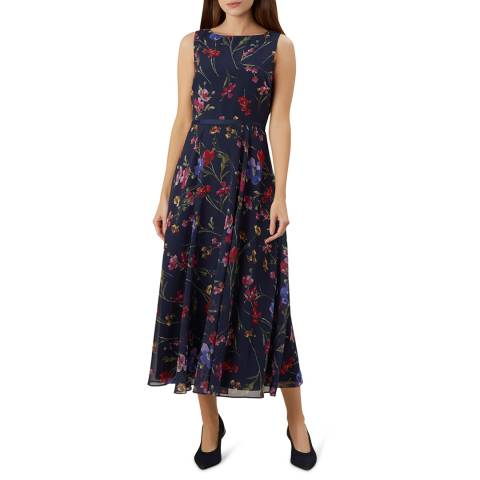 Hobbs London Navy Floral Carly Dress