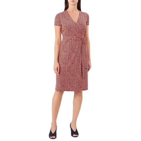 Hobbs London Red Delilah Wrap Dress