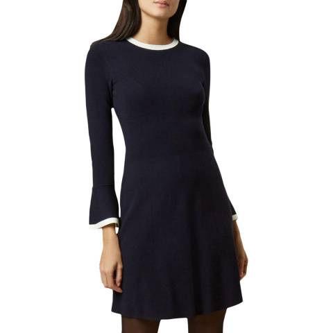Hobbs London Navy Willow Dress