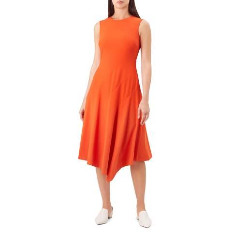 Hobbs London Orange Anya Dress