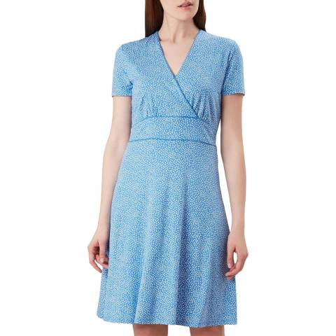 Hobbs London Blue Dot Darcie Dress