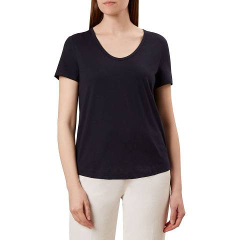 Hobbs London Navy Alys T-Shirt