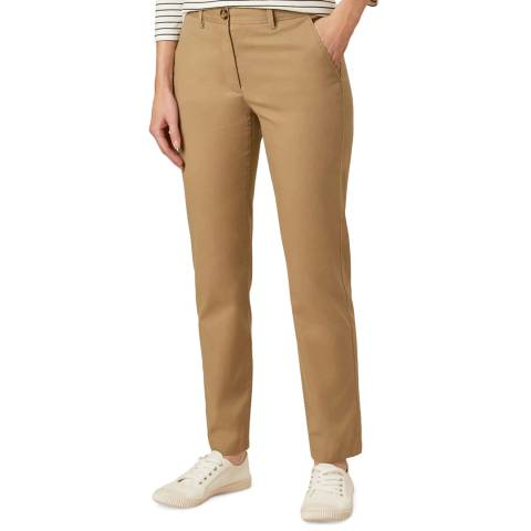 Hobbs London Beige Paislyn Stretch Chinos